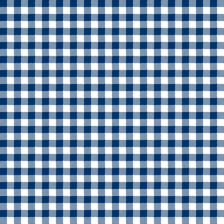 checkered: vintage checkered table cloth background colored blue Illustration