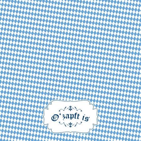 solemnity: german Oktoberfest background with banner and text Ozapft is