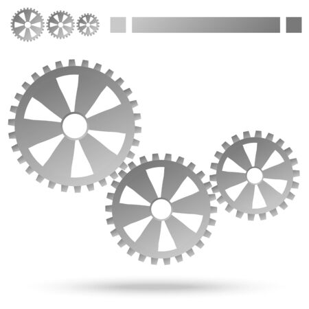 symbolism: three gray gears for cooperation or teamwork symbolism