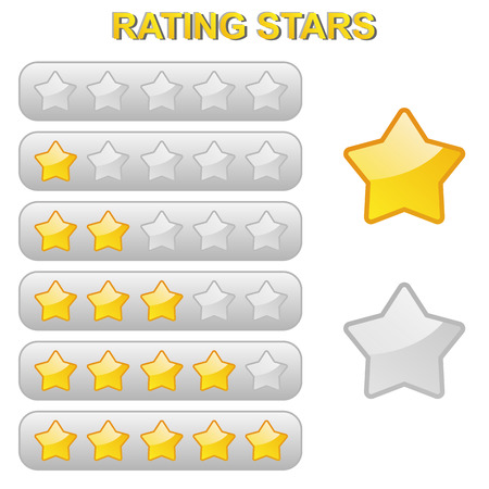 five star: stars for goods or travel rating from 0 to 5