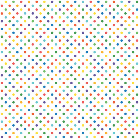 rainbow colours: abstract seamless background with dots in different colors