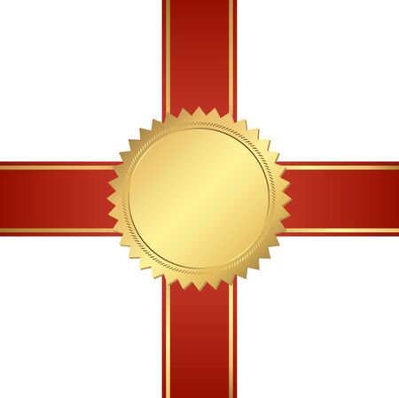 victor: seal of quality template with ribbons vector