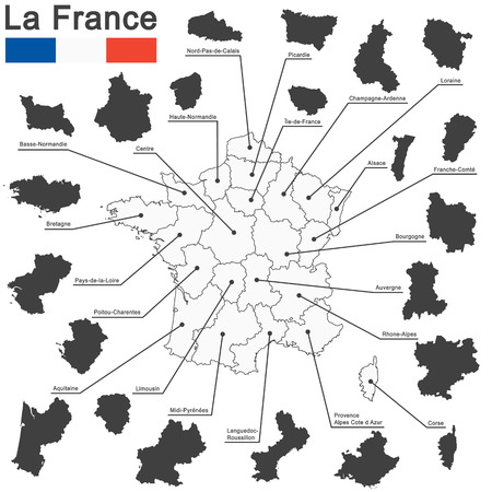 regions: european country france and all regions in details