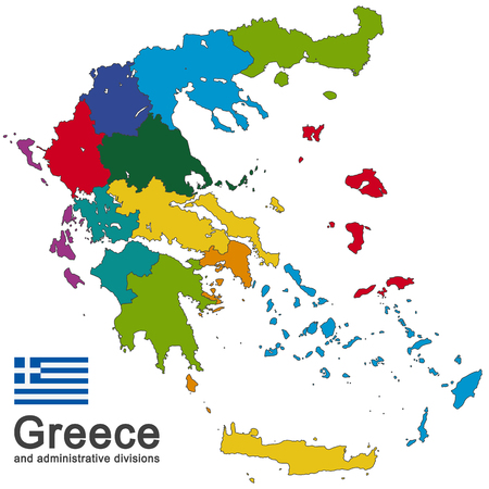 greek islands: european country Greece and administrative divisions