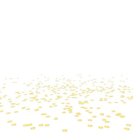 endlos: Gold farbig liegen Konfetti Hintergrund für Faschingsparty Illustration