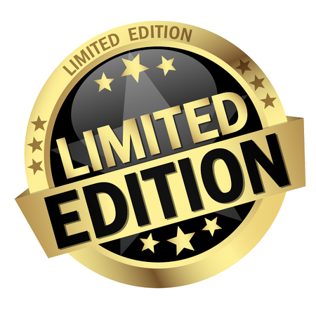 edition: round colored button with banner Limited Edition