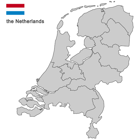 north holland: silhouette of the netherlands and the regions Illustration