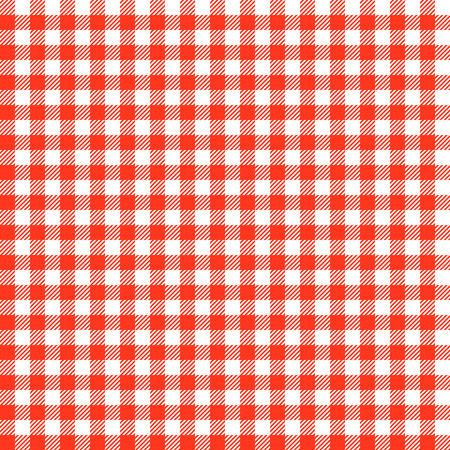 vintage checkered table cloth background colored red