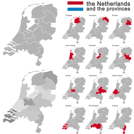 detail: european country the netherlands and all provinces