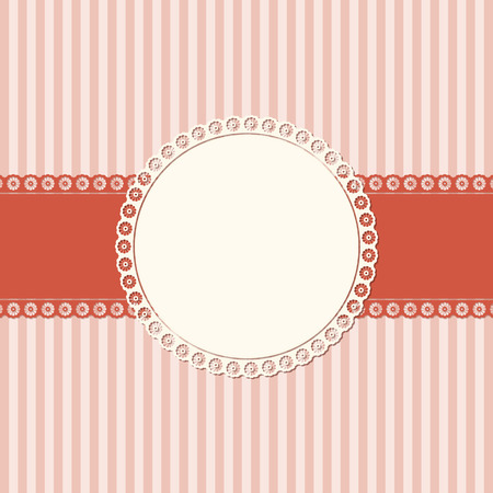 fifties: banner and empty patch on red colored lined background