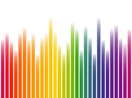 naadloze digitale equalizer strepen achtergrond met kleur verloop op witte achtergrond Stock Illustratie