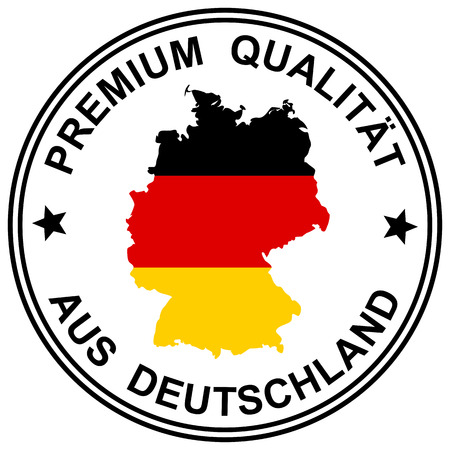 """round patch """" Premium Qualität """" with silhouette of germany"""