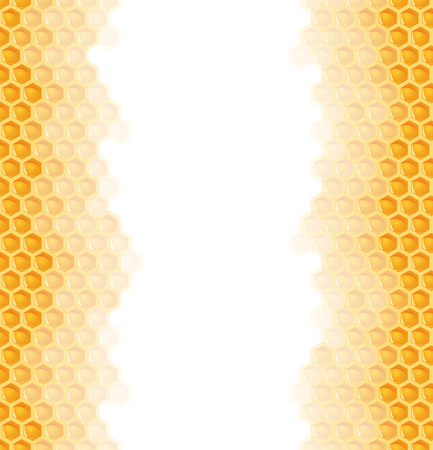 honey comb: seamless natural orange honey comb left and right sides background