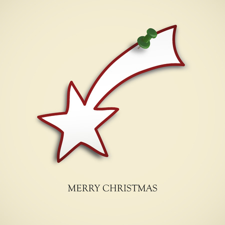 christmas star background: Christmas card background with shooting star and pin needle