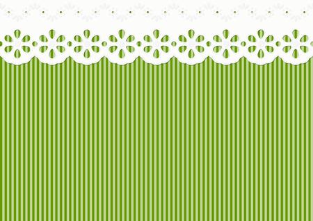 festoon decoration on lined pattern - seamless
