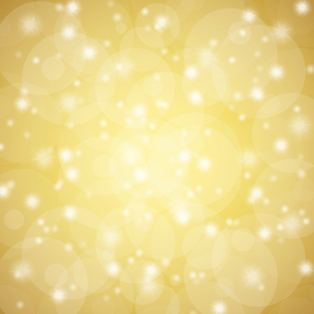 vintage background: golden abstract background with shiny stars and blurs Illustration