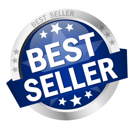reduced value: round colored button with banner Best Seller