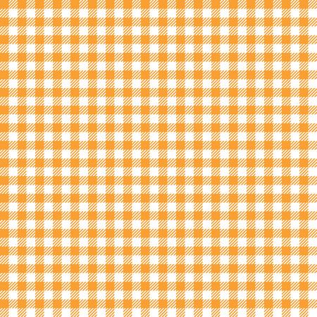 naranja sin fisuras a cuadros de color fondo de tela