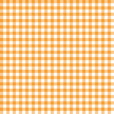 cloths: seamless orange colored checkered table cloth background Illustration