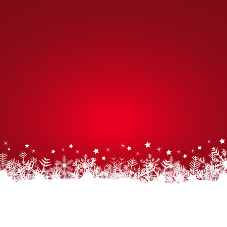 snow fall: white snow flakes on bottom side and colored background
