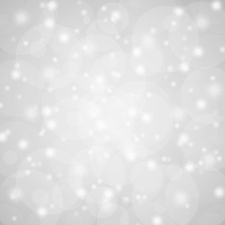 festively: silver abstract background with shiny stars and blurs