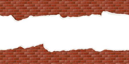 Seamless mur de pierre de couleur avec du plâtre cassé Banque d'images - 47841901