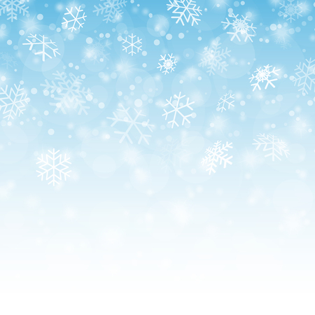 snow fall: white snow fall background with gradient colors blue to white