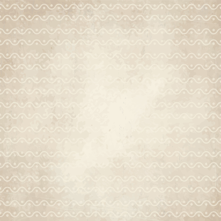 soiled: vector of old vintage paper background with waves and points