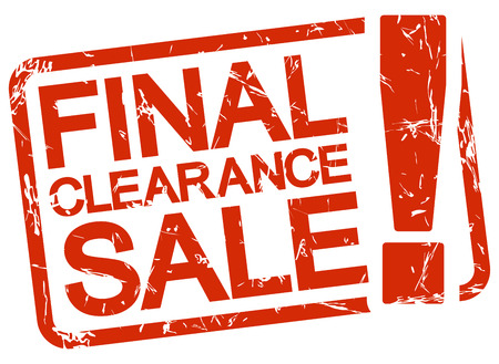 reduced value: grunge stamp with frame colored red and text final clearance sale ! Illustration