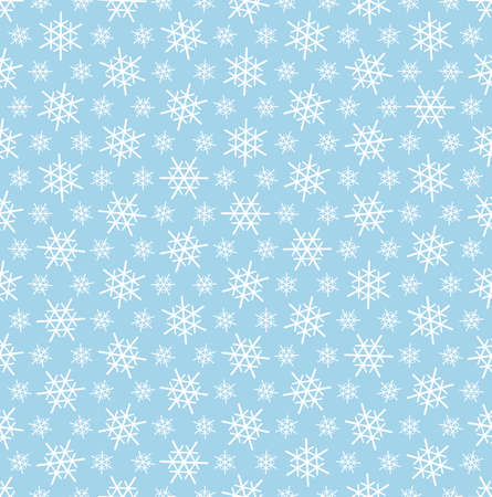 snow white: seamless blue and white snow flake vector background for christmas designs Illustration