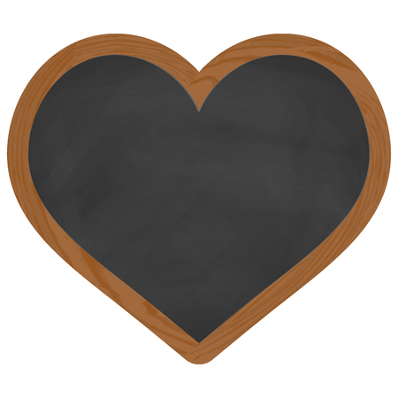 to adore: heart shaped black chalk board with brown wooden frame