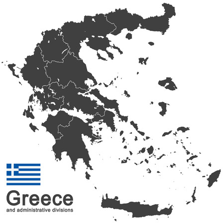 aegean: european country Greece and administrative divisions