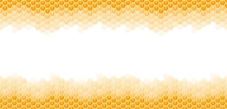 bezszwowe naturalny pomarańczowy plaster miodu górną i dolną krawędź tła Ilustracje wektorowe