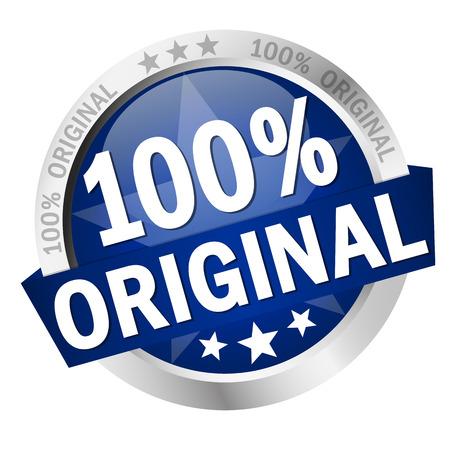 배너 100 % 오리지널 컬러 버튼