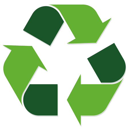 green economic recycle sign on white background Illustration