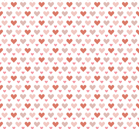seamless pretty background with hearts and details in fine colors Illustration