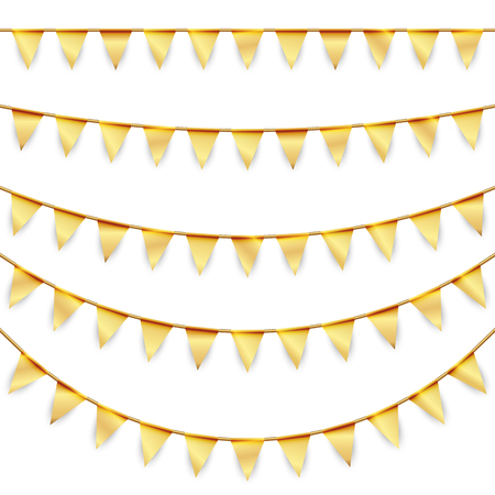 banderol: golden garlands background collection for party or festival usage