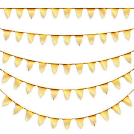 banderol: golden garlands background collection for party or festival usage