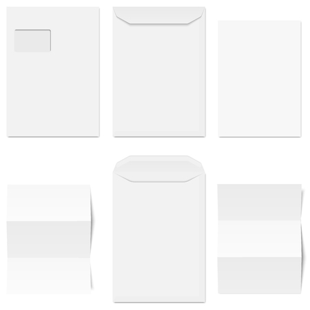 din: little collection of white envelopes and different letter heads