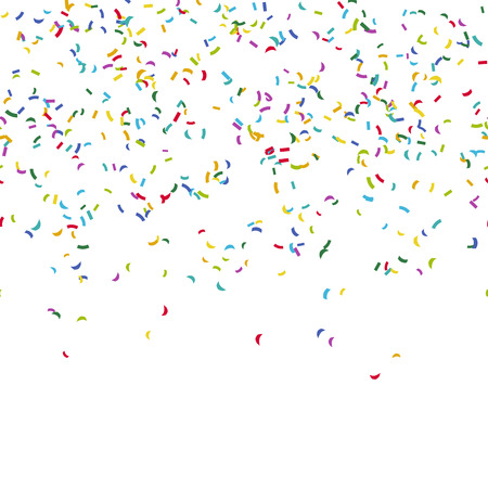 seamless background with different colored confetti for party time