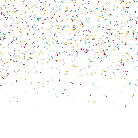 parade confetti: seamless background with different colored confetti for party time