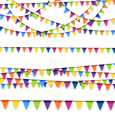kolorowe girlandy tle kolekcja dla partii lub wykorzystanie festiwalu