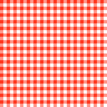 checkered: vintage checkered table cloth background colored red