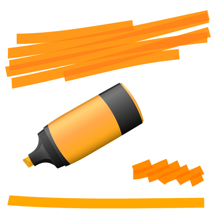 actual: orange colored high lighter with markings for advertising usage Illustration