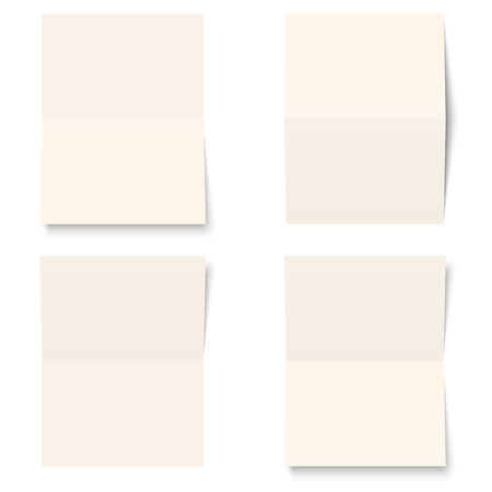 collection of four empty sheets of paper