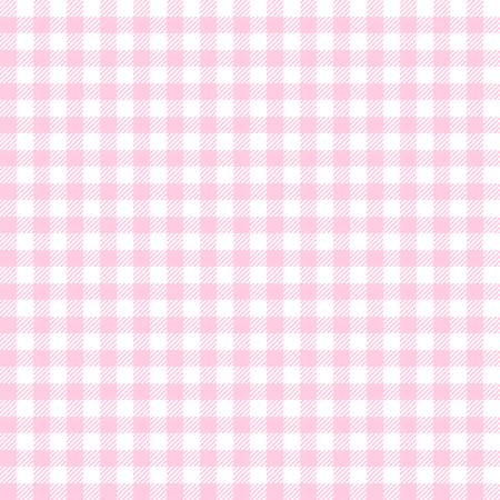 checkered: vintage checkered table cloth background colored pink Illustration