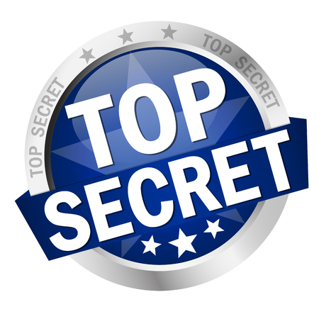 secret service: colored round badge Top Secret