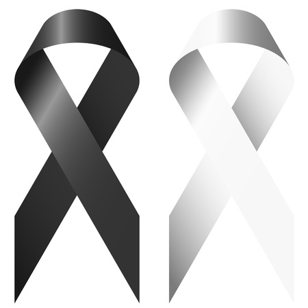 symbolism: black and white ribbons as symbolism for marriage