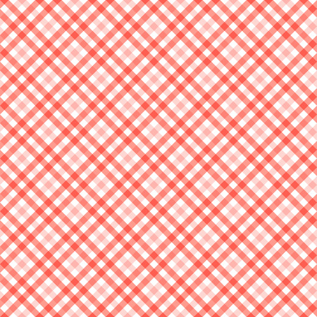 country kitchen: seamless red colored checkered table cloth background Illustration