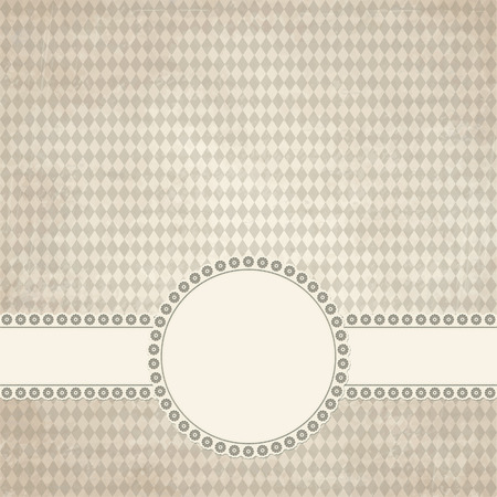 banderole: banner and empty patch on dirty brown colored Oktoberfest grunge background Illustration
